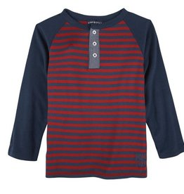 Red & Navy Stripe Henley