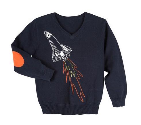 Andy & Evan Spaceship Sweater