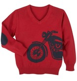 Andy & Evan Red Motorcycle Sweater
