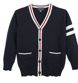 Andy & Evan Navy Varsity Cardigan