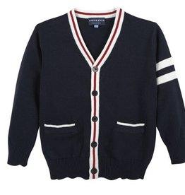 Navy Varsity Cardigan