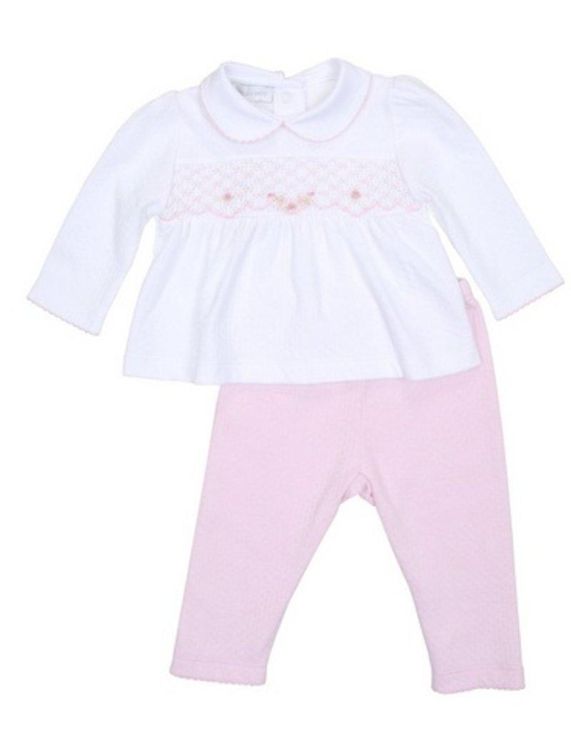 Magnolia Baby Sophia Smocked 2pc Pant Set