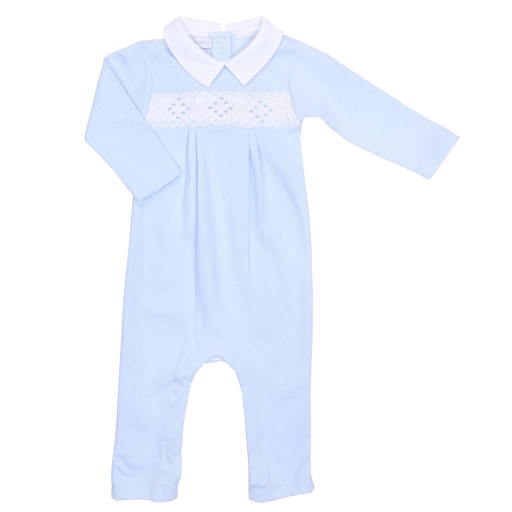 Magnolia Baby Oliver Smocked Playsuit Blue