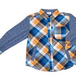 Fore Axel & Hudson Orange/Navy Shirt