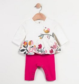 Catimini Fleece Floral Onesie