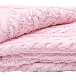 Toffee Moon Cradle Pink Receiving Blanket