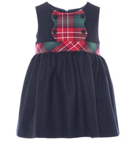 Patachou Baby Navy Tartan Dress