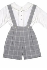 Luli & Me Grey Suspender Set