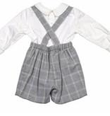 Luli & Me Grey Suspender Set