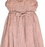 Luli & Me Pink & Tan Smocked Dress