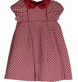 Luli & Me Baby Jewel Jacquard Dress