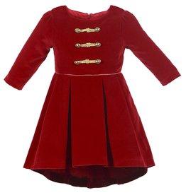 Patachou Red Velvet Dress