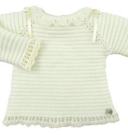 paz rodriguez Baby Ivory Knitted Sweater
