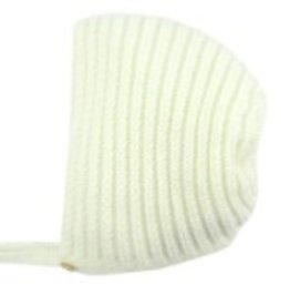 paz rodriguez Baby Ivory Knitted Bonnet