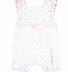 Sunuva Pink & White Romper