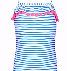 Sunuva Blue Stripe Pom Swimsuit