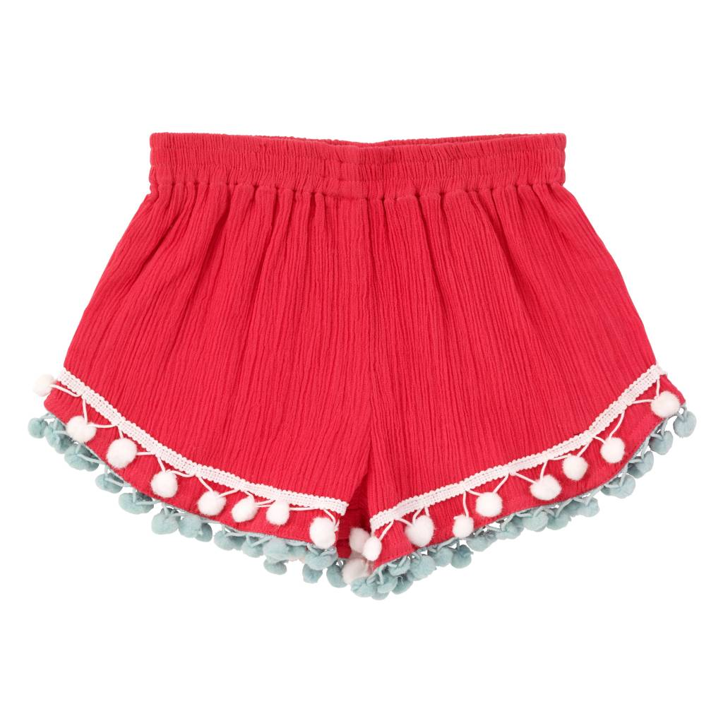 Masala Baby Coral Pom Shorts