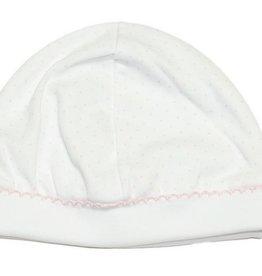 Kissy Kissy Kissy Dot Hat White/Pink