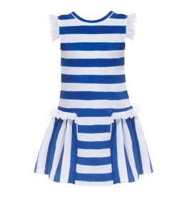 Patachou Blue Striped Jersey Dress