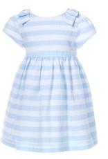Patachou Blue White Stripe Dress