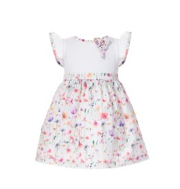 Patachou Floral Knit & Woven Dress