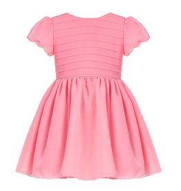 Patachou Coral Chiffon Dress