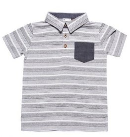 Fore Axel & Hudson Grey Textured Polo