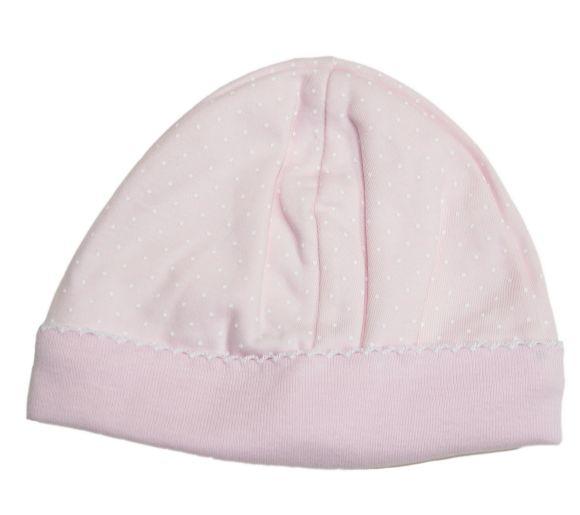 Kissy Kissy Dot Hat Pink/White