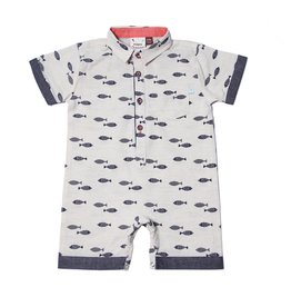 Fore Axel & Hudson Sand Fish Romper