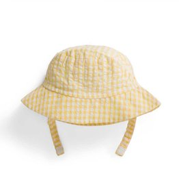 Yellow Gingham Sun Hat