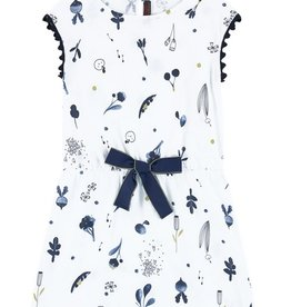 Catimini Catamini Navy & White Graphic Dress