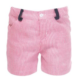 Patachou Linen Red Stripe Short