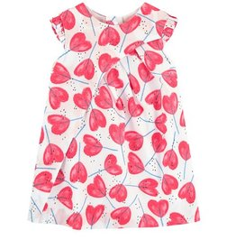 Catimini Heart Print Dress
