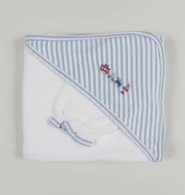 Kissy Kissy Railroad Towel w/Mitt