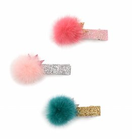 Me Oui Crown Fur Ball Hair Clip
