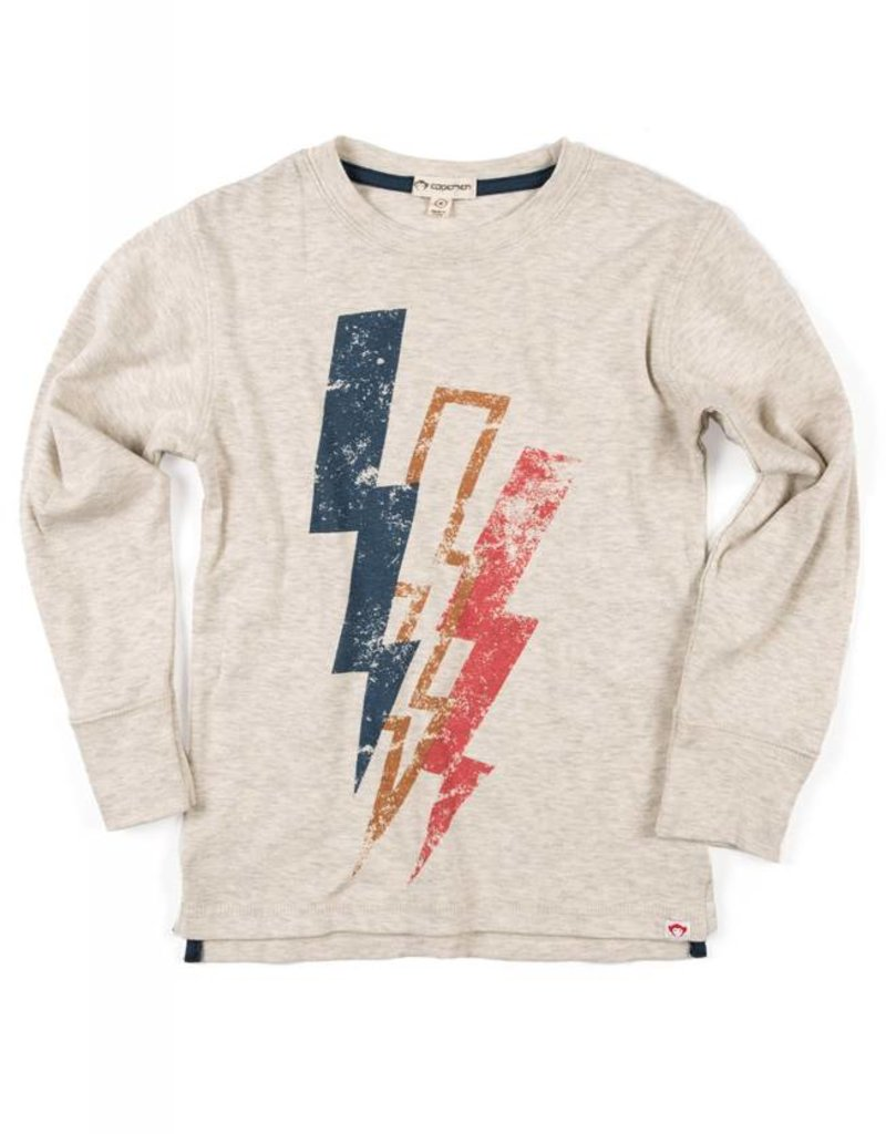 Appaman Lightning Bolt Tee Off White