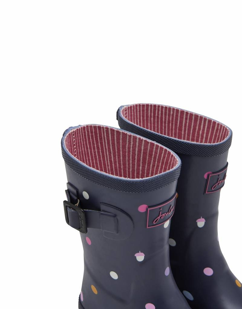 Navy Dot Jr. Wellies
