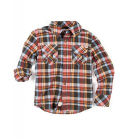 Appaman Orange Plaid Shirt