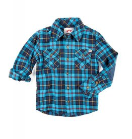 Appaman Blue Plaid Shirt