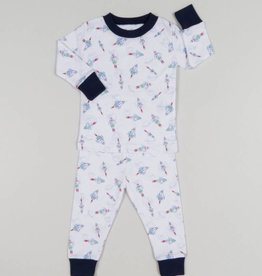 Kissy Kissy Boy Rocket Print Pajama Set