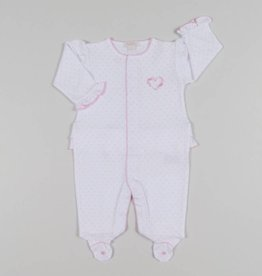 Kissy Kissy Rose Heart Embroidered Footie
