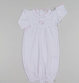 Kissy Kissy Pink Heart Embroidered Sack