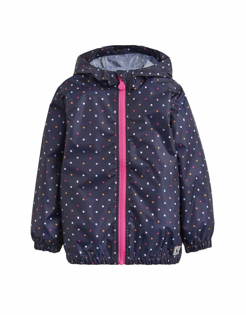 Navy Dot Rain Jacket