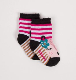Catimini Pink Fox Socks
