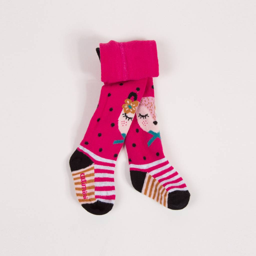 pink fox tights doodle stinker childrens boutique