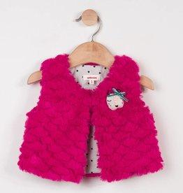 Catimini Pink Faux Fur Vest
