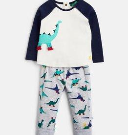 Navy Dinosaur Pant Set