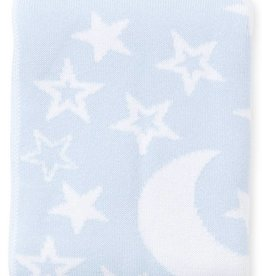Kissy Kissy Blue Moon & Stars Blanket