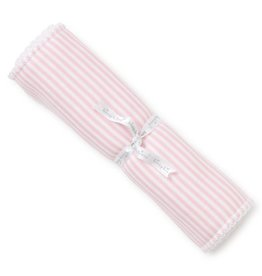 Kissy Kissy Pink Stripe Burp Cloth