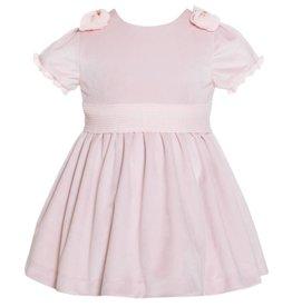 Patachou Pink Velvet & Crepe Dress